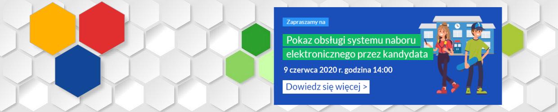Pokaz obsługi systemu naboru elektronicznego przez kandydata